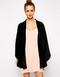Kiss The Sky Velvet Morning Kimono Black