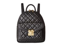 Love Moschino Quilted Emblem Mini Backpack Black Backpack Bags