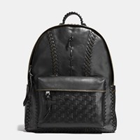 Coach Rip And Repair Campus Backpack In Sport Calf Leather Black Copper Black