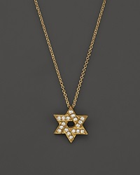 Bloomingdale's Diamond Star Of David Pendant Necklace In 14K Yellow Gold .18 Ct. T.W.