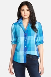 Foxcroft Multicolor Buffalo Check Shirt Regular And Petite Blue