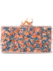 Sophia Webster Stone Clutch Yellow Orange