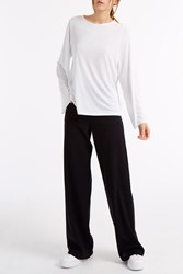 Helmut Lang Feather Jersey Top White