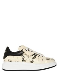 Alexander Mcqueen 45Mm Butterfly Printed Leather Sneakers