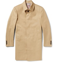 Thom Browne Cotton Gabardine Raincoat Neutrals