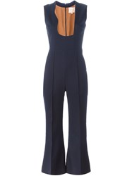Roksanda Ilincic Flared Jumpsuit Blue