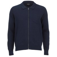 A.P.C. Men's Bobby Cardigan Marine Blue