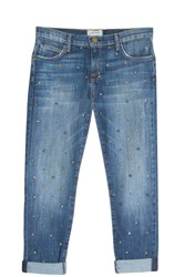 Current Elliott Women S Studded Jeans Boutique1 Blue