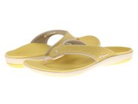 Spenco Yumi Canvas Sunshine Women's Toe Open Shoes Yellow