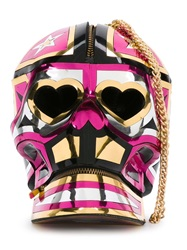 Manish Arora Skull Clutch Multicolour