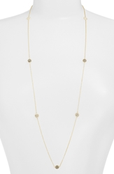 Judith Jack Long Illusion Necklace Marcasite Gold