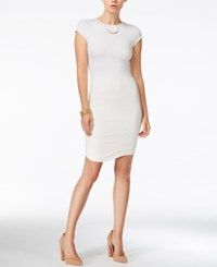 Bar Iii Cap Sleeve Bodycon Dress Only At Macy's Washed White