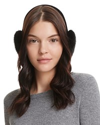 Surell Velvet And Mink Fur Earmuffs Black