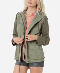 O'neill Juniors' Zelda Hooded Utility Jacket Army Green