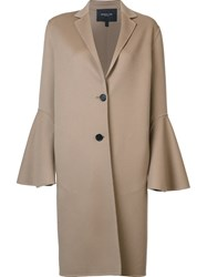 Derek Lam Flared Sleeves Coat Nude And Neutrals