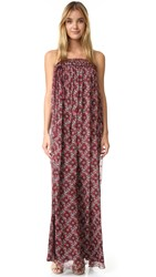 Cinq A Sept Sterling Silk Dress Red Multi Red