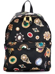 Moschino Jewel Print Backpack Black