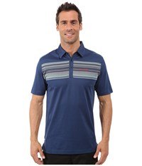 Travis Mathew Chase Polo Insignia Blue Men's Short Sleeve Pullover