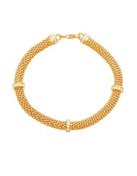 Lord And Taylor 18K Goldplated Sterling Silver Station Popcorn Mesh Bracelet