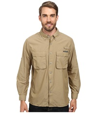 Exofficio Air Strip Long Sleeve Top Walnut Men's Long Sleeve Button Up Brown