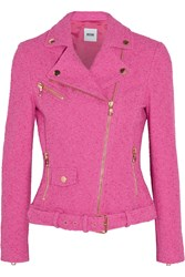 Boutique Moschino Stretch Boucle Jacket Pink