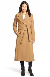 Women's Kristen Blake Long Wool Blend Wrap Coat Camel