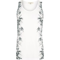 River Island Mens White Floral Side Print Vest