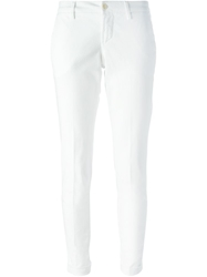 Fay Skinny Fit Trousers White