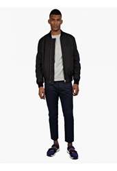 Marni Men's Navy Panelled Cotton Trousers