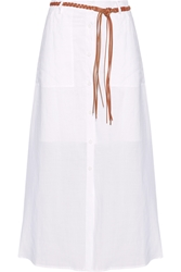 Theory Tylary Belted Ramie Maxi Skirt