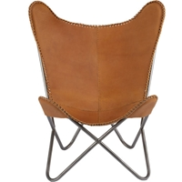 1938 Leather Butterfly Chair Cb2