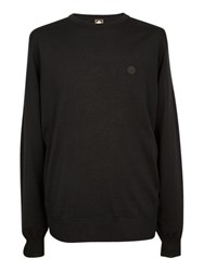 Pretty Green Mosely Crew Neck Jumper Black