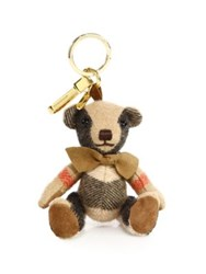 Burberry Thomas House Check Cashmere Bear Keychain