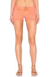 Hudson Jeans Croxley Mid Thigh Short Luminous Orange