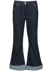 Natasha Zinko Low Rise Flared Jeans Blue