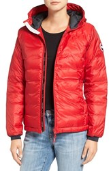 Canada Goose Women's 'Camp' Slim Fit Hooded Down Jacket Red Black