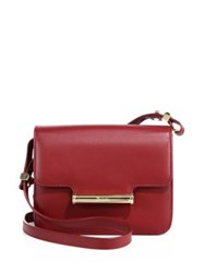 Jason Wu Diane Petite Leather Shoulder Bag Red