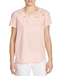 Finity Lace Applique Tee Peach
