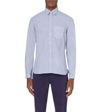 Oliver Spencer New York Special Slim Fit Cotton Shirt Lancaster Blue
