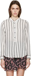 Isabel Marant Black And White Striped Udena Shirt
