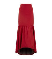Pinko Taffeta Maxi Skirt Female Red