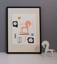 Abstract Collage Of Horse By Floss And Co. Notonthehighstreet.Com