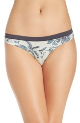 Chelsea 28 Women's Chelsea28 Low Rise Thong Green Hush Botanical Floral