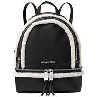 Michael Michael Kors Rhea Leather Zip Medium Backpack Black