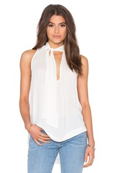 Free People Sleeveless Tie Front Top Ivory