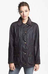Women's Barbour 'Beadnell' Waxed Cotton Jacket Rustic