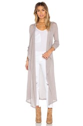 Bobi Mesh Sweater Long Sleeve Long Cardigan Taupe