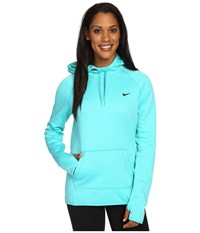Nike All Time Pullover Hoodie Hyper Jade Black Women's Long Sleeve Pullover Blue
