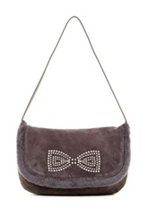 Ugg Alloway Crystal Bow Clutch Purple