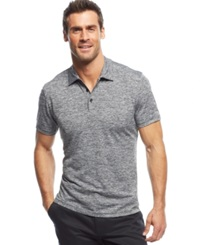 Alfani Big And Tall Ethan Performance Polo Deep Black Combo
